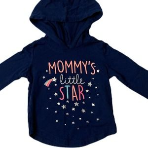 "Carters Girls 18 Month ""Little Star"" Navy Hoodie"
